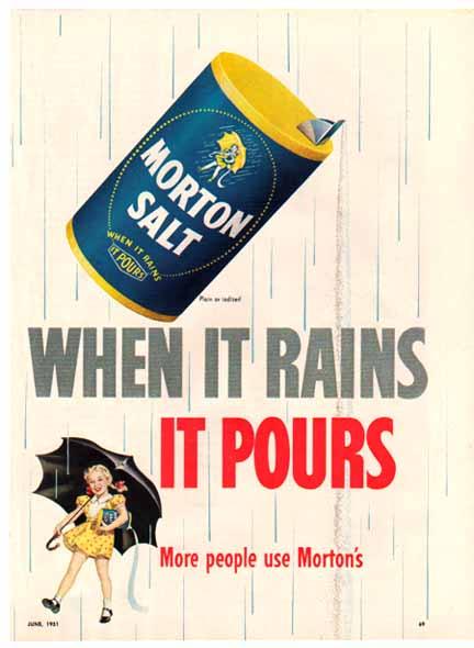 Billboard for Plasticville Holder Morton Salt Girl When It Rains It Pours